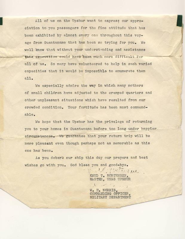 FD, USS Upshur Letter scan, 1962