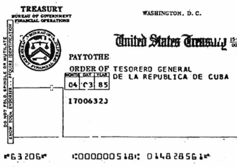 The lease check 1985